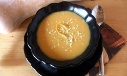 Receta de crema de calabaza con zanahoria a la naranja