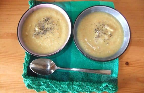 Receta de crema de 5 verduras con mijo