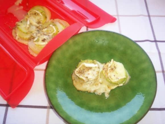 Receta de calabacín, manzana y cebolla al horno