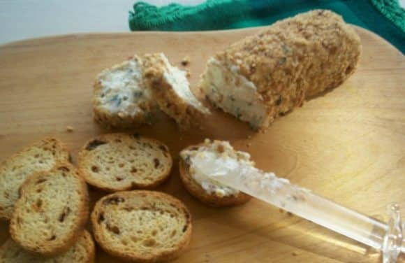 Receta de paté de queso con avellanas