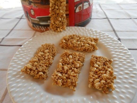Receta de barritas de cereales sanas