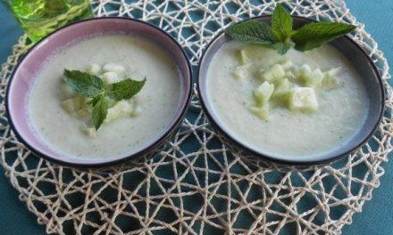 Receta de crema de pepino y yogur a la menta