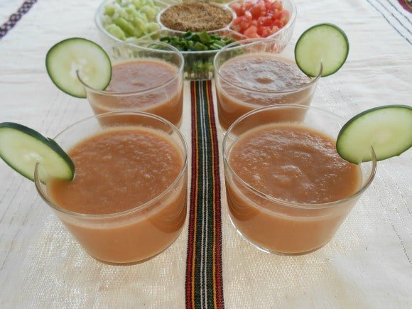 Receta de gazpacho clásico