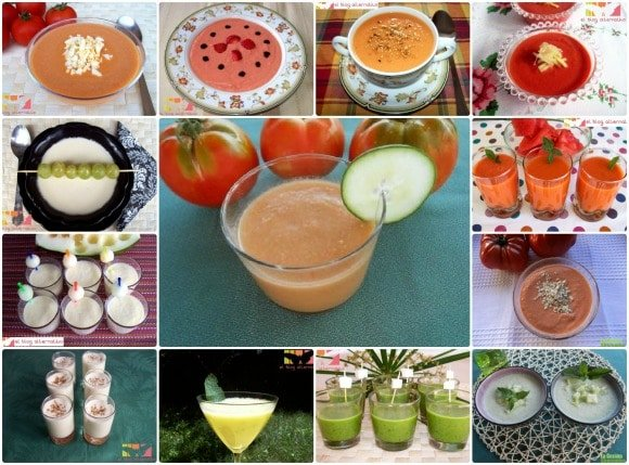 13 recetas de gazpacho, ajoblanco, salmorejo y sopas frías