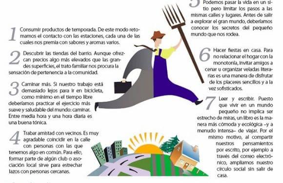 7 pasos para ser feliz en un mundo pequeño y local