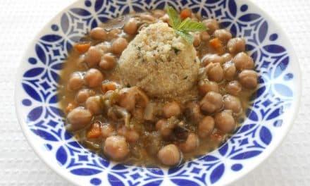 Receta de garbanzos con verduritas y quinoa