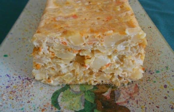 Receta de pastel de berza con zanahorias y patatas