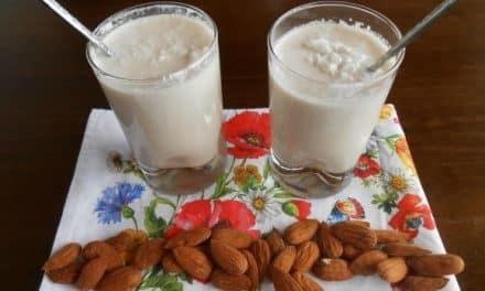 Receta de leche de almendras con coco