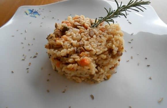 Receta de risotto de setas y boniato