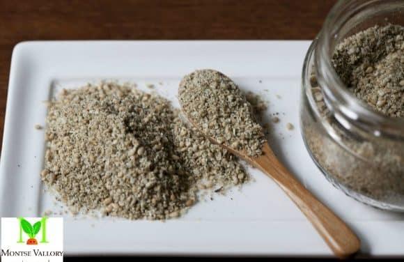 Receta de condimento remineralizante de sésamo con wakame