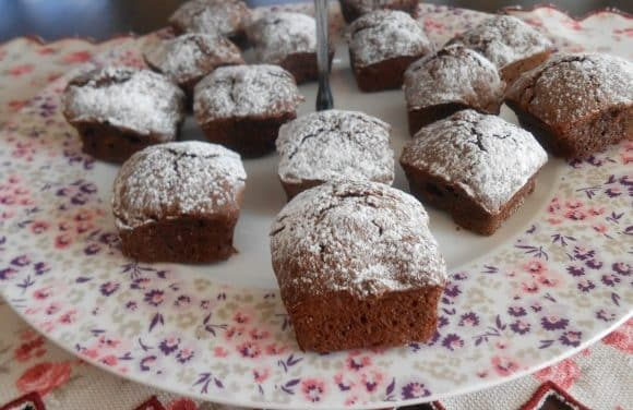 Receta de mini brownies de espelta y nueces