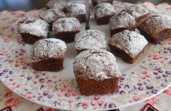 Receta de mini brownies de espelta y nueces