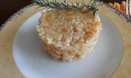 Receta de risotto integral de calabaza y manzana
