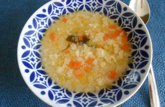 Receta de sopa de mijo con verduritas