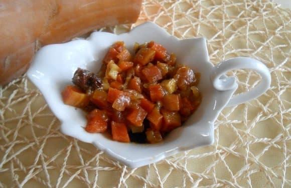 Receta de chutney de calabaza y frutas