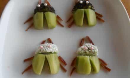 Receta de «escarabajos» de kiwi