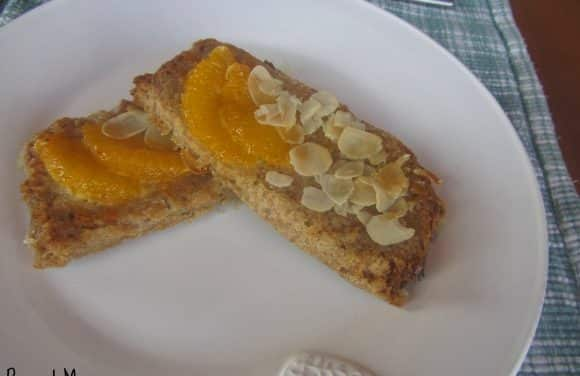 Receta de torrijas de almendra a la naranja