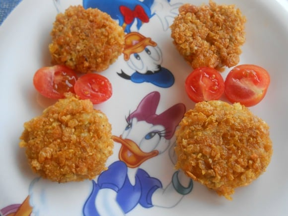 Receta de nuggets vegetarianos al curry
