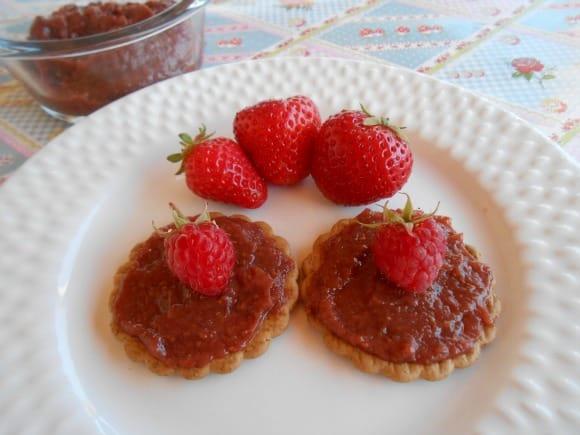 Receta de mermelada de fresas y frambuesas sin azúcar