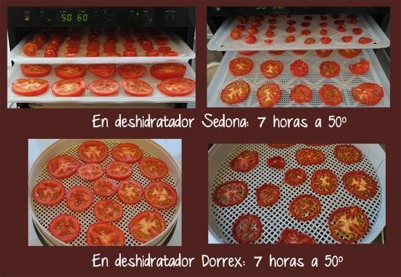 Secando tomates en una DESHIDRATADORA eléctrica