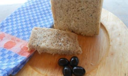 Receta de pan con aceitunas en panificadora