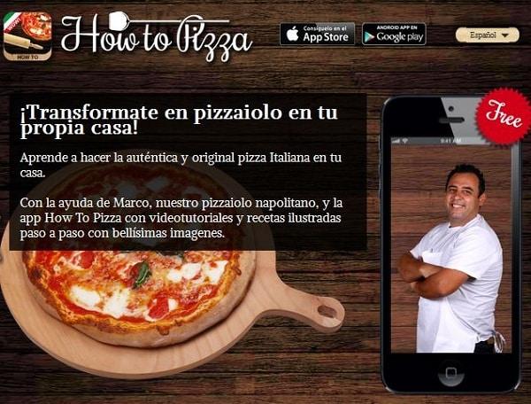 How To Pizza. La app que te enseña a elaborar pizzas