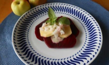 Receta de ensalada de remolacha y manzana a la albahaca