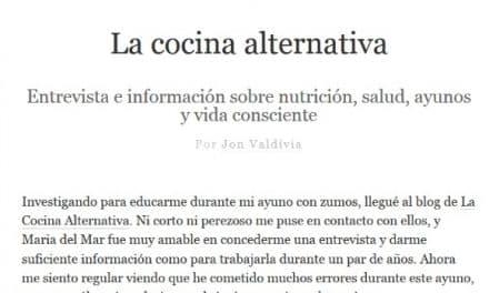 Me entrevistan sobre AYUNO y dieta sana en el blog de Jon Valdivia