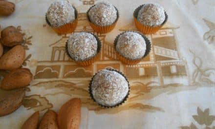 Receta de trufas de almendras, naranja y coco