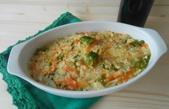 Receta de pastel de mijo con verduras multicolor