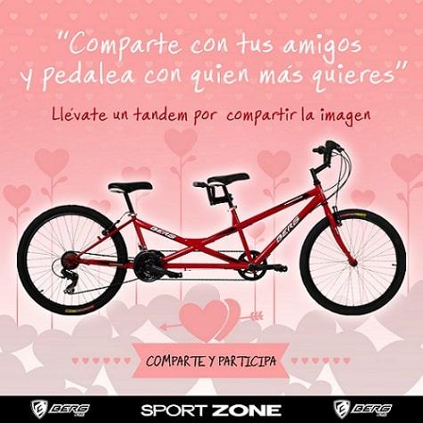 Complementa una alimentación sana pedaleando en pareja con la Bicicleta Tándem que sortea Sport Zone