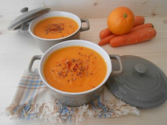 Receta de crema de zanahorias y naranjas