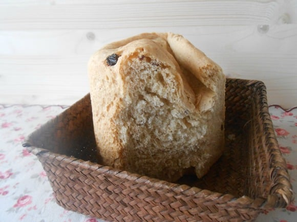 Receta de pan con pasas (en panificadora)