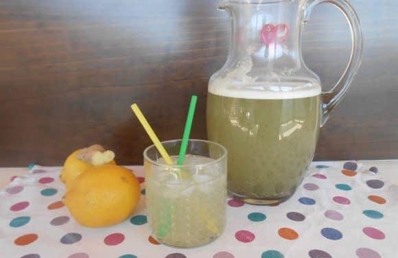 Receta de limonada con jengibre y estevia