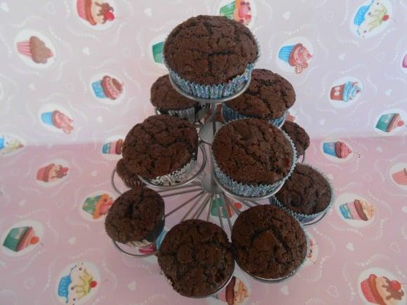 Receta de cupcakes de cacao y fresas (veganos)