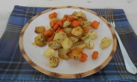 Receta de patatas y zanahorias especiadas al horno