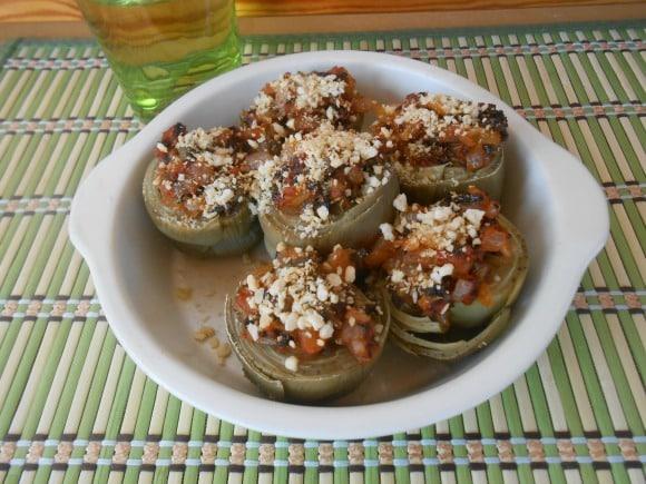 Receta de alcachofas rellenas a la mediterránea