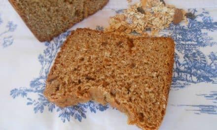 Receta de pan de muesli (en panificadora)