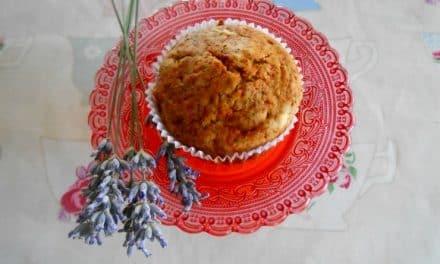 Receta de magdalenas de manzana y lavanda (sin azúcar y vegana)