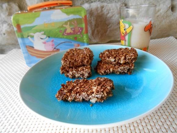 Receta de barritas de avena, semillas y perlas de chocolate