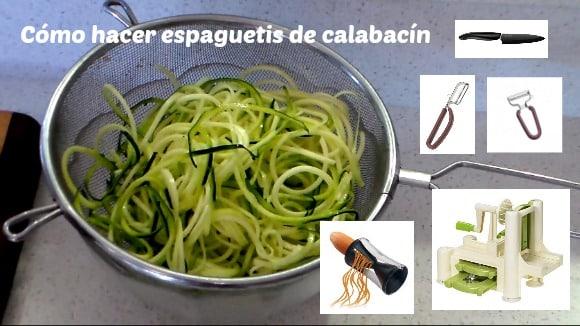 Cómo hacer espaguetis de calabacín (vídeo con 5 métodos)
