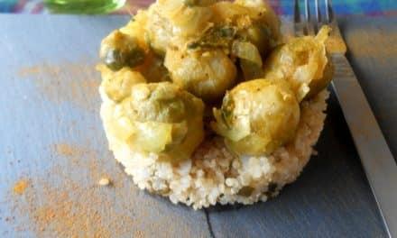 Receta de quinoa con coles de bruselas a la cúrcuma