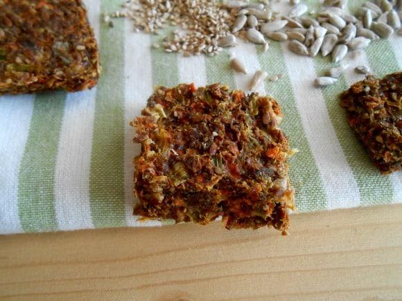 Recetas de crackers de semillas y verduritas en deshidratador
