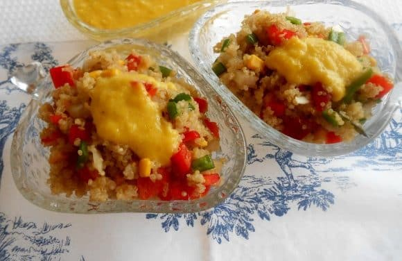 Receta de ensaladilla de quinoa con vinagreta de mango