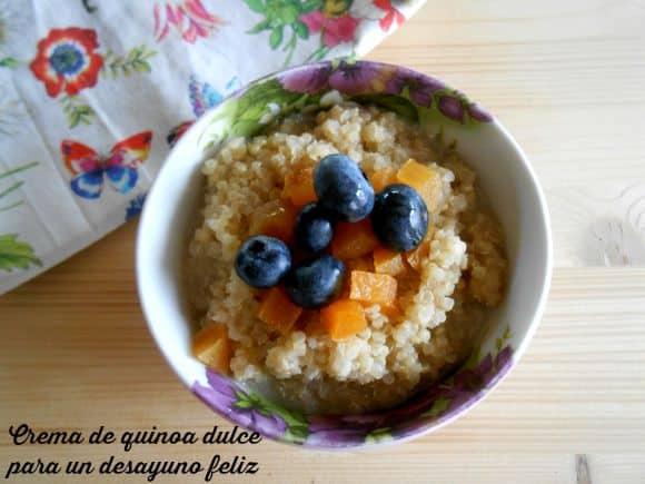 Receta de crema dulce de quinoa para un desayuno feliz