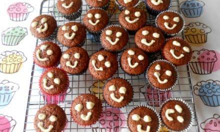 Receta de cupcakes de chocolate veganos  (sin huevos ni lactosa)