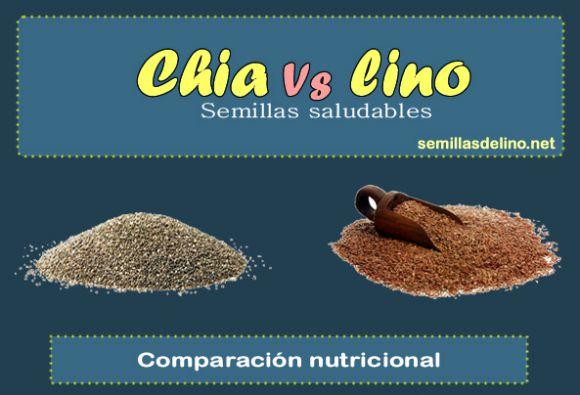 Semillas de lino y semillas de chía: infografía