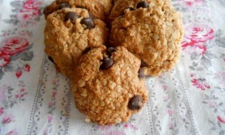 Receta de galletas de avena y sarraceno con chips de chocolate (sin azúcar)