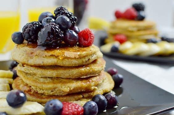 Pancakes de harina de avena