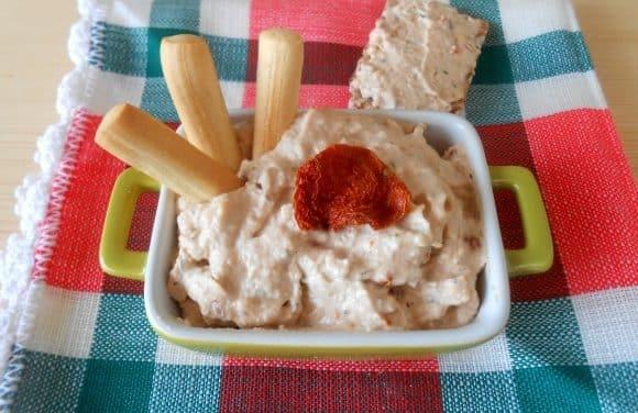 Receta de paté de anacardos con tomates secos y aromáticas